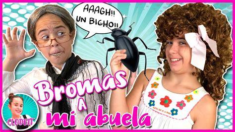 BROMAS DIVERTIDAS y GRACIOSAS!!  ESPANTANDO a mi ABUELA ...