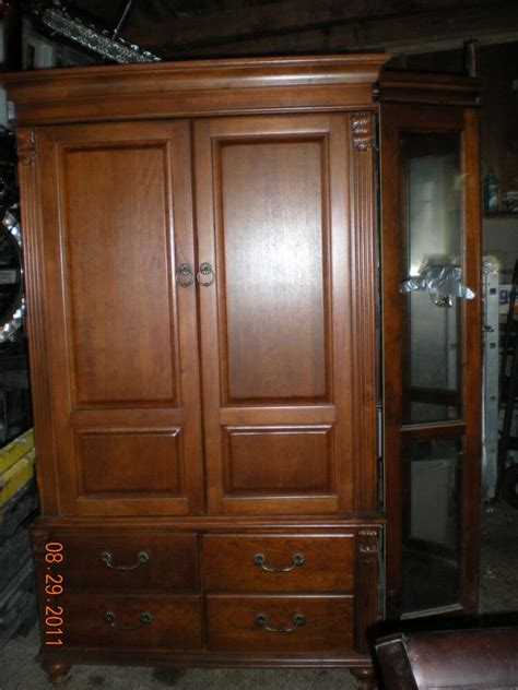 Brown Wood Armoire / Wardrobes | eBay