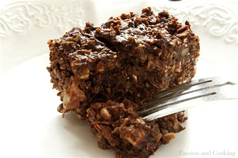 Brownies d avena  Oatmeal Brownies    Passion and cooking