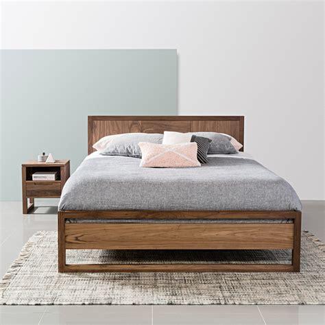 Bruno Queen Size Bed Frame   Solid Walnut   213x162cm ...