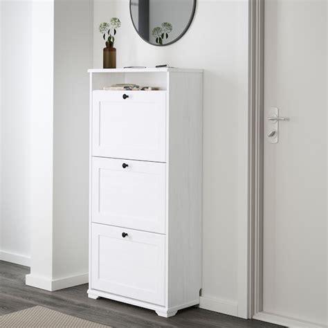 BRUSALI Zapatero 3, blanco, 61x130 cm   IKEA