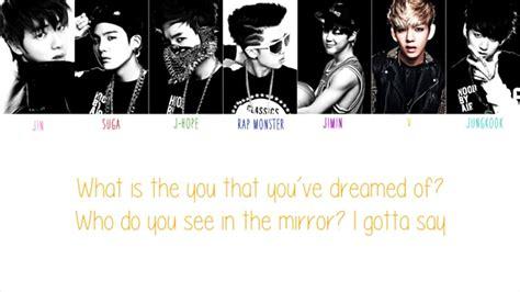 BTS  방탄소년단    No More Dream Color Coded English Lyrics ...