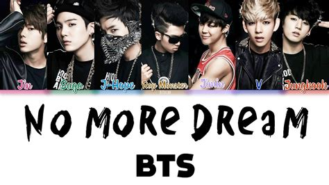 BTS  방탄소년단  – No More Dream Color Coded Lyrics HAN/ROM/ENG ...