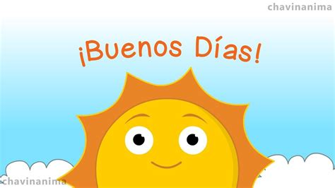 Buen Día Sol   Animado   YouTube