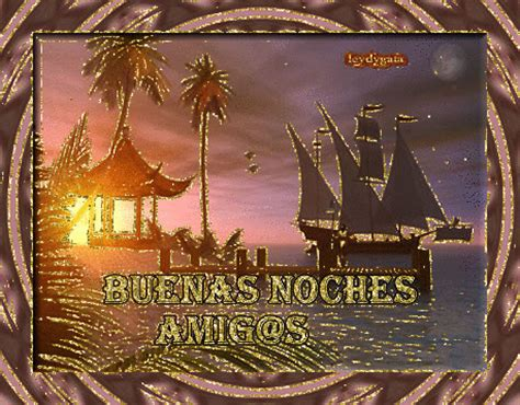 Buenas Noches Amigos con paisaje tropical   Imagenes y ...