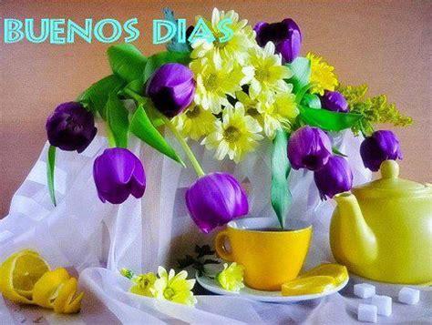 Buenos Días desayuno con flores   Imagenes y Carteles