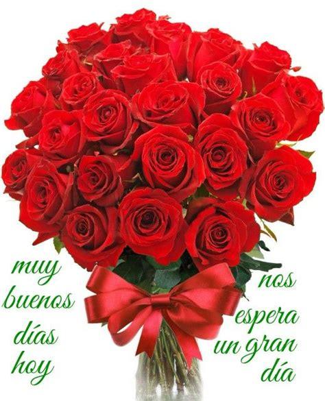 Buenos dias | Ramo de rosas rojas, Ramos de rosas hermosas ...