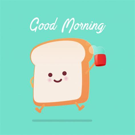 Buenos días saludo en pan tostado de dibujos animados ...