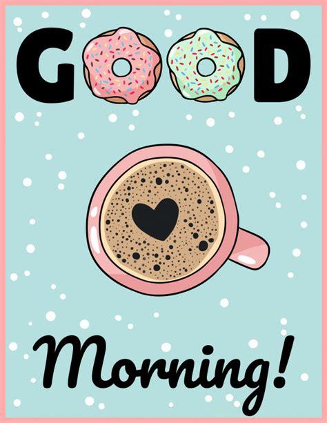 Buenos días taza de café con dibujos animados lindo de ...