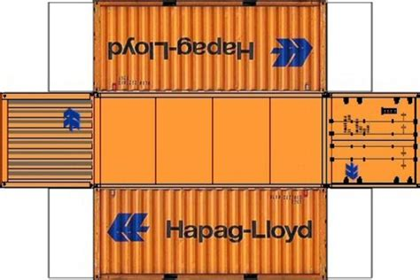 Build Your Own Free Printable Types 20ft Containers  O ...