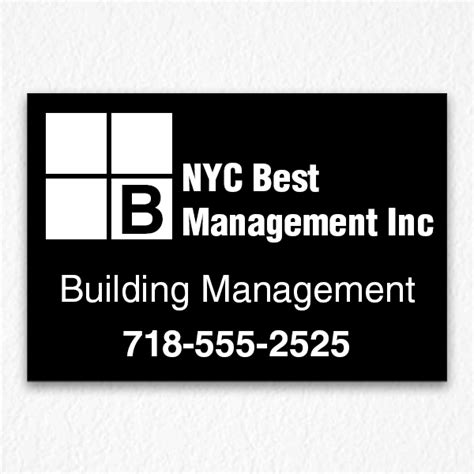 Building Management Sign NYC   HPD Signs NYC