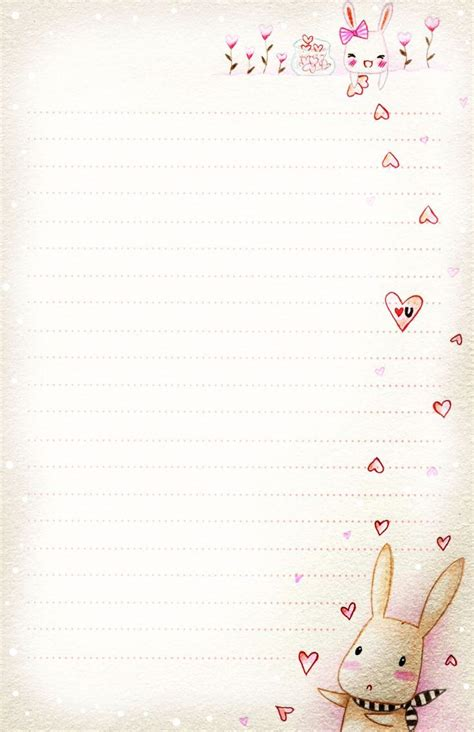 bunny_love_letter_paper_by_tho_be d3g5lw6.jpg 1,650×2,550 ...
