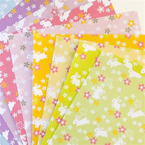 Bunny Rabbits Printable Origami Paper   Paper Kawaii Shop