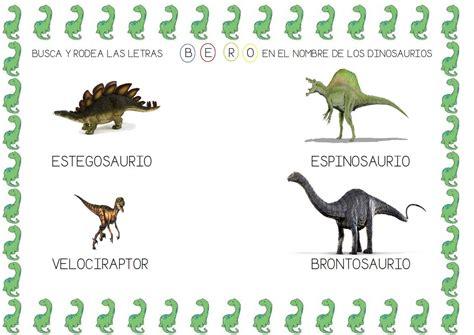 BUSCA LETRAS EN NOMBRES DINOSAURIOS | Dinosaurios ...
