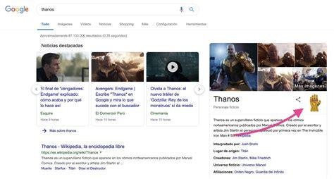 Buscar Thanos en Google esconde una sorpresa geek
