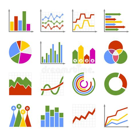 Business Graph And Diagram Icons Set. Vector Stock Vector ...