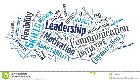 Business skills word cloud stock illustration ...