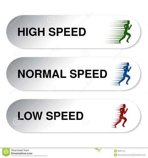Button Of Speed   Low, Normal, High Stock Photography ...