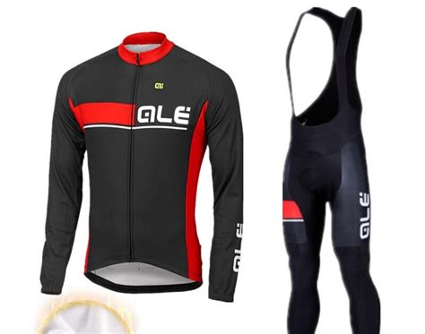 Buy 2017 ALE Winter Thermal Fleece Cycling Clothing Pro ...