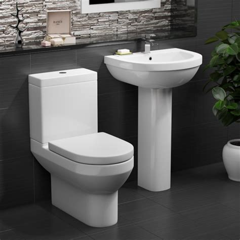 Buy Alpha Modern Toilet and Basin Set from Bathshop321