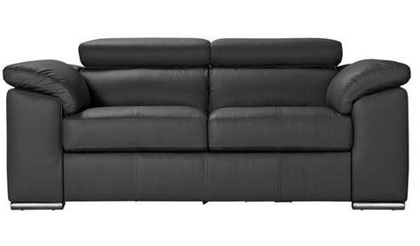Buy Argos Home Valencia 2 Seater Leather Sofa   Black ...