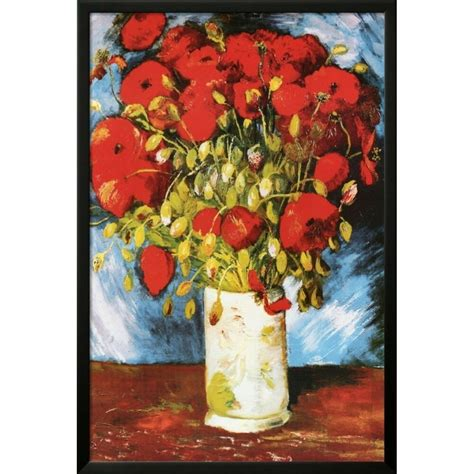 Buy Art For Less  Vase with Red Poppies 1886 Poster  by ...