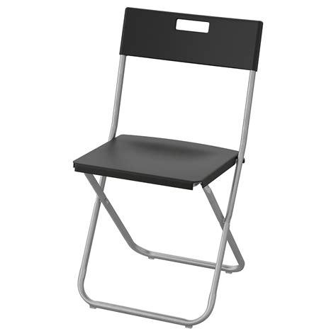 Buy GUNDE Folding Chair, Black Online UAE   IKEA
