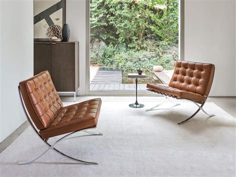 Buy the Knoll Studio Knoll Barcelona Chair   Relax Version ...
