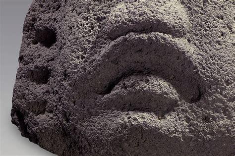 Cabeza de una escultura olmeca | El México antiguo. Salas ...