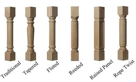 Cabinet columns, kitchen island posts, furniture legs