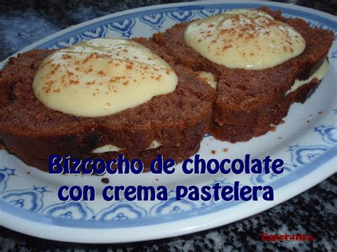 CACHIN D´ESPERANZA: Bizcocho de chocolate con crema pastelera
