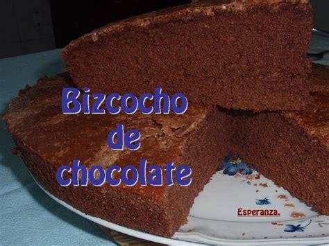 CACHIN D´ESPERANZA: Bizcocho de chocolate