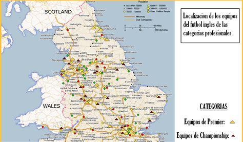 CAFÉ FÚTBOL: Mapa futbolistico de Inglaterra