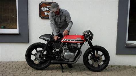 Cafe Racer RAT yamaha xs 400 kickstart   Built Motor Work ...