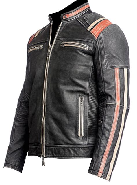 Cafe Racer Retro 2 Distressed Leather Jacket | XtremeJackets