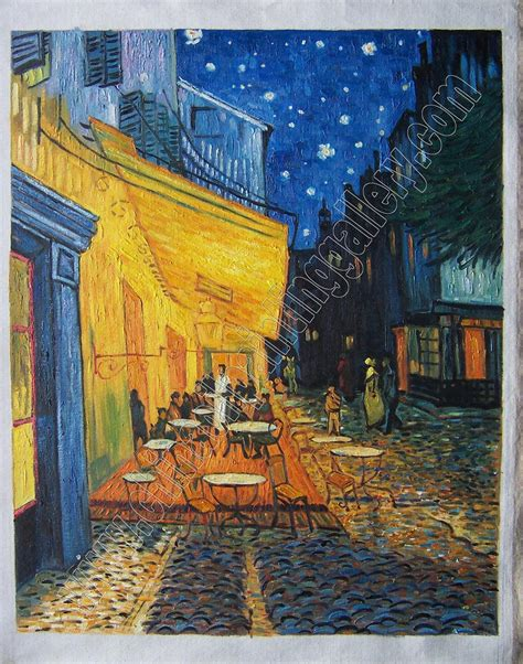 Cafe Terrace at Night   Van Gogh   oil painting ...