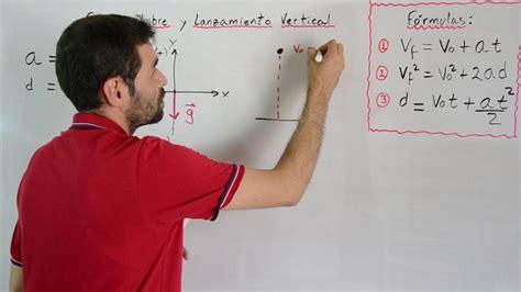 Caída Libre y Lanzamiento Vertical   Ecuaciones, Fórmulas ...