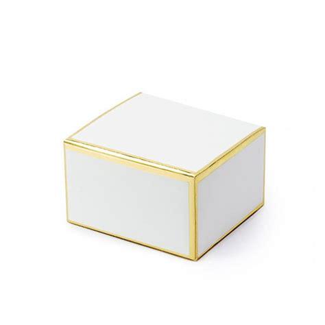 Caixa Branca com Rebordo Dourado, 10 Unid. | Misterius.pt