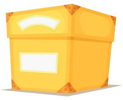Caja amarilla de dibujos animados 262836 Vector en Vecteezy