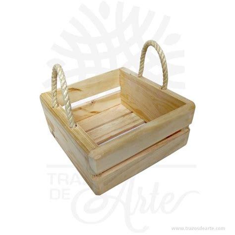 Caja canasta en madera de pino para regalo de 20 x 20 x 10 ...