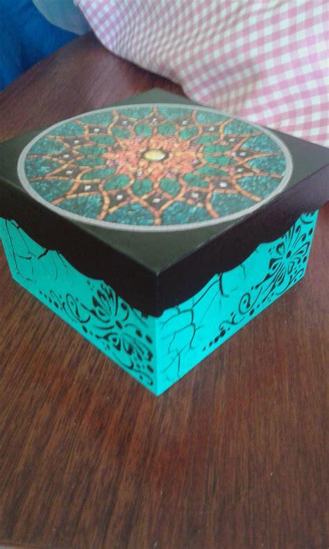 CAJA CON MANDALA | Cajas decoradas, Cajas pintadas, Cajas
