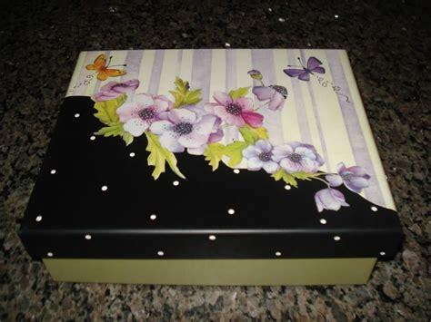 Caja con tapa dividida | Cajas pintadas, Cajas decoradas ...