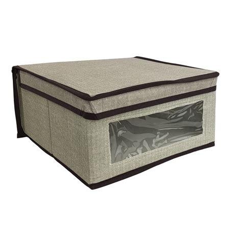 Caja de almacenaje con tapa  30 x 28 x 15 cm