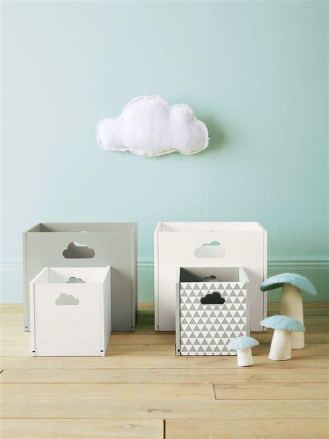 Caja de almacenaje de madera pintada blanco   Vertbaudet ...