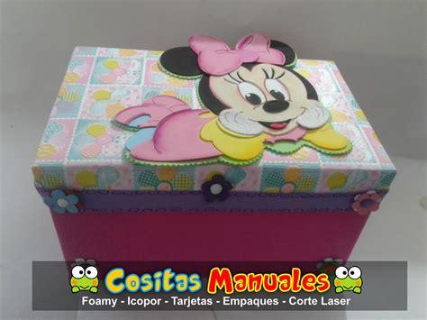 Caja de Cartón , decorada en foamy temática Minnie   Lili ...