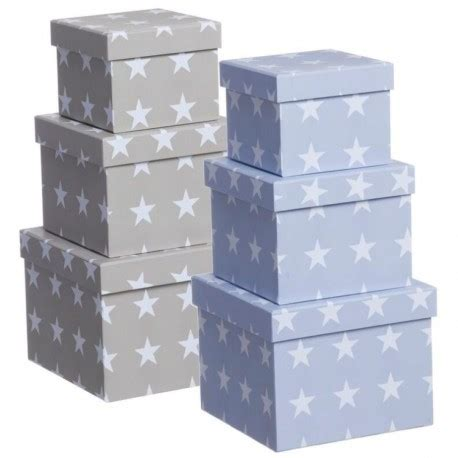 Caja de cartón decorada estrellas