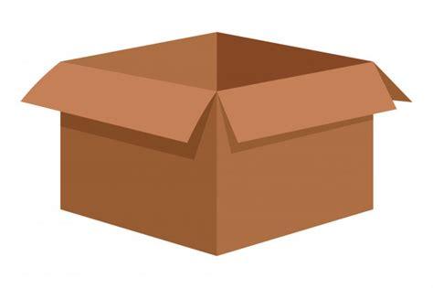 Caja de cartón vacía de dibujos animados | Vector Premium