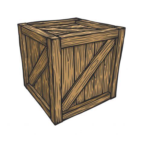 Caja de embalaje de madera | Vector Premium