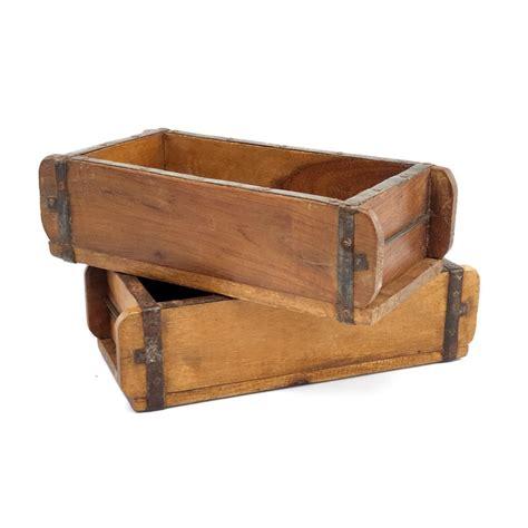 Caja de madera antiguo molde de ladrillo, auténtico ...