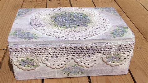 Caja de madera decorada con crochet y decoupage   YouTube